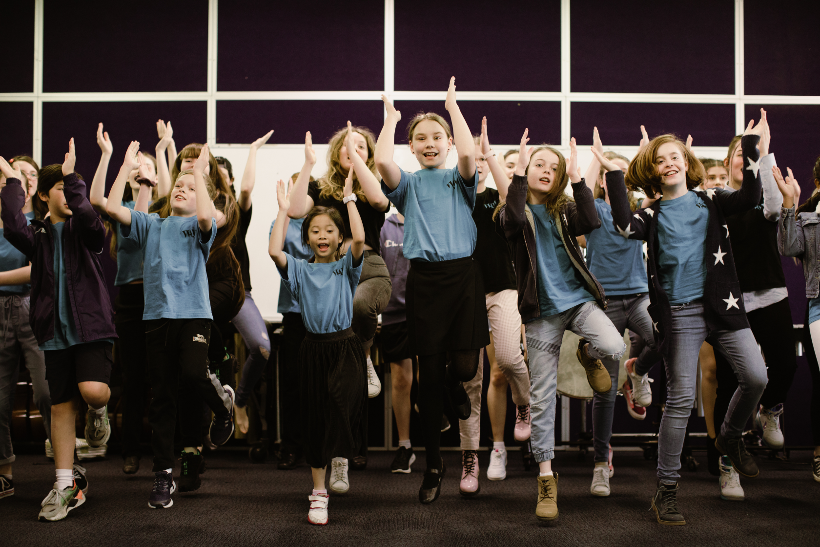 WA Young Voices Children Jumping